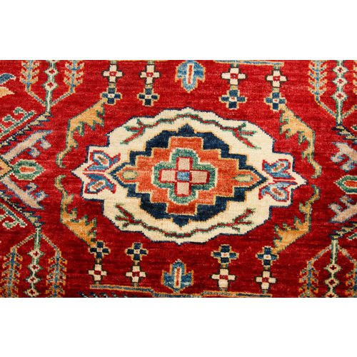 241x176 cm  kazak tapijt fijn  Handgeknoopt wol