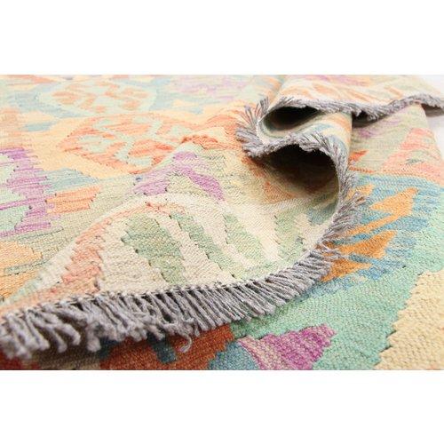 215x169 cm Handgemacht Wolle Kelim Orientteppich