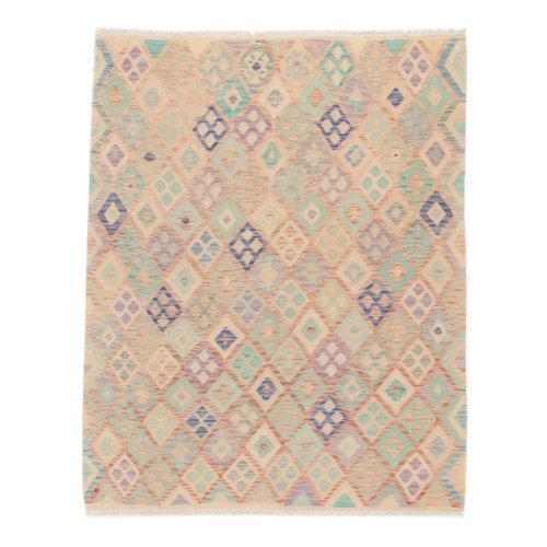 197x152 cm Handgemacht Wolle Kelim Orientteppich