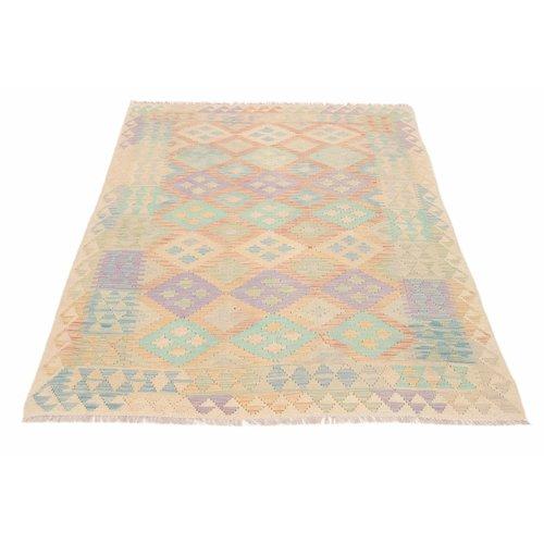 203x154 cm Handmade Afghan Kilim Rug Wool Carpet