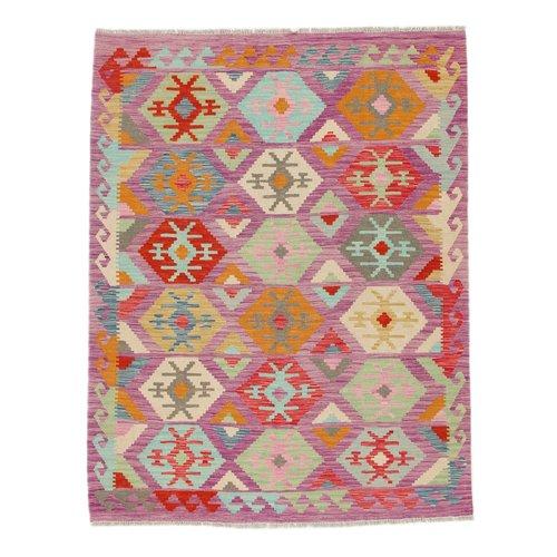 195x150 cm Handmade Afghan Kilim Rug Wool Carpet
