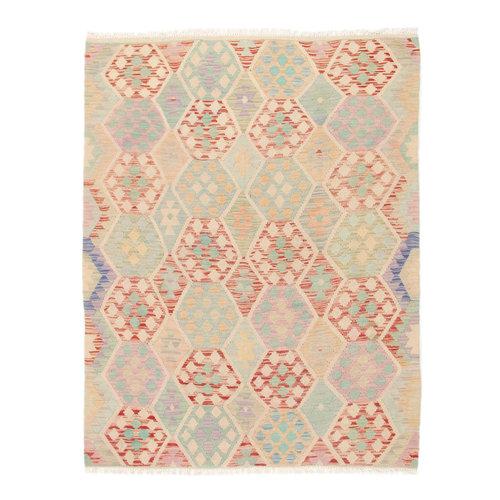 189x146 cm Handgemacht Wolle Kelim Orientteppich
