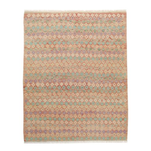 199x158 cm Handgemacht Wolle Kelim Orientteppich