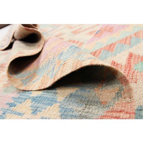 198x154 cm Handgemacht Wolle Kelim Orientteppich