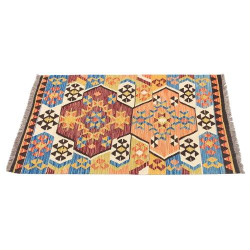 145x101 cm Handmade Afghan Kilim Rug Wool Carpet