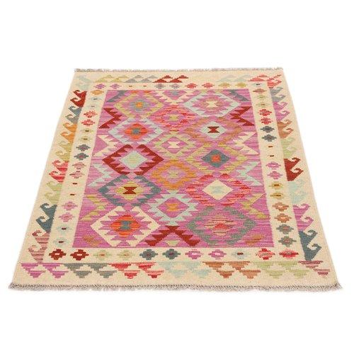 145x101 cm Handgemacht Wolle Kelim Orientteppich