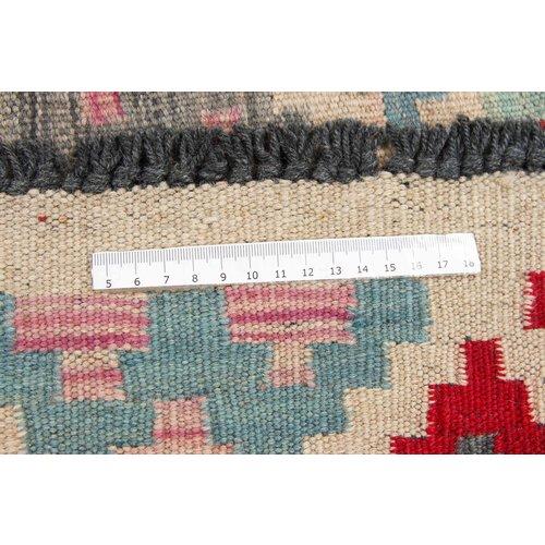 151x106 cm Handgeweven Kelim Tapijt Wol Vloerkleed
