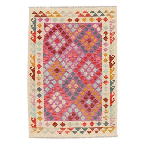 148x103 cm Handgemacht Wolle Kelim Orientteppich