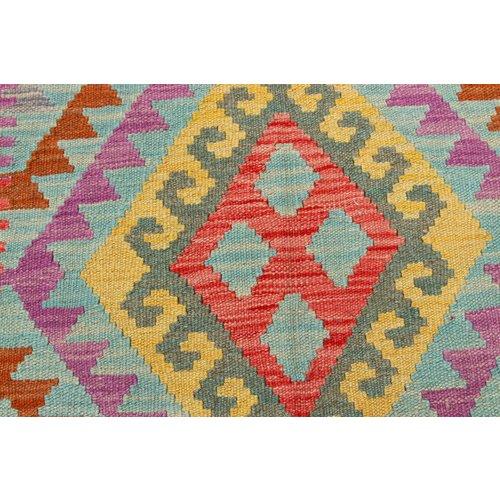 152x100 cm Handgemacht Wolle Kelim Orientteppich