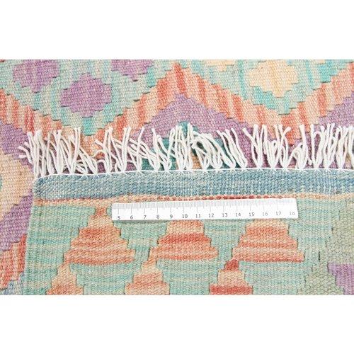 196x148 cm Handgemacht Wolle Kelim Orientteppich