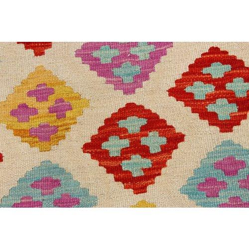 168x124 cm Handgemacht Wolle Kelim Orientteppich