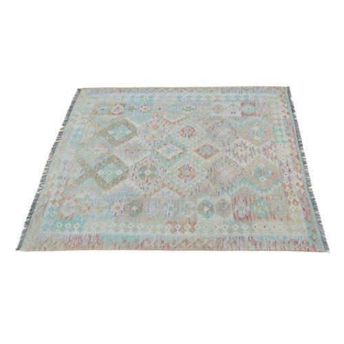 197x154 cm Handgemacht Wolle Kelim Orientteppich