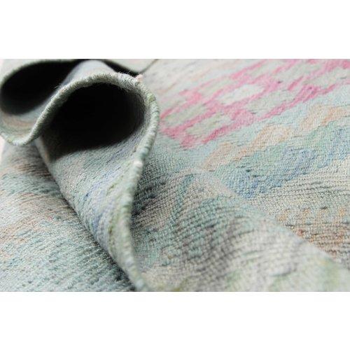 198x148 cm Handgemacht Wolle Kelim Orientteppich