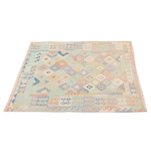 195x150 cm Handgemacht Wolle Kelim Orientteppich