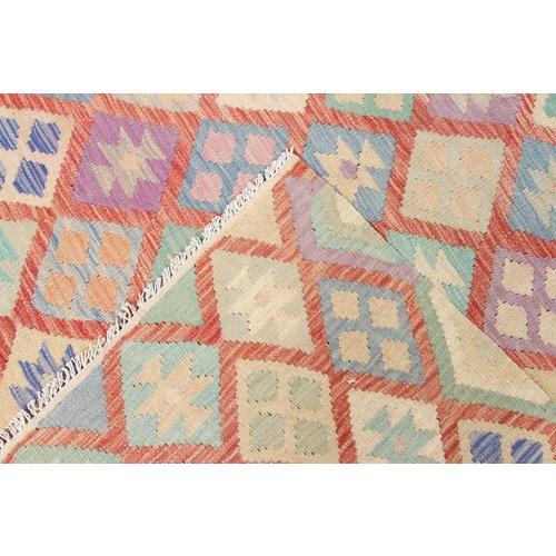 200x145 cm Handgemacht Wolle Kelim Orientteppich