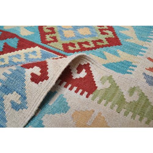 Kelim Kleed 192X143 cm Vloerkleed Tapijt Kelim Hand Geweven