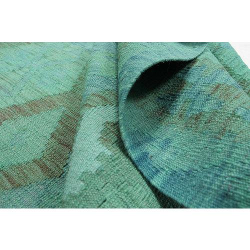 9'97x6'76 Sheep Wool Handwoven Multicolor Traditional Afghan kilim Area Rug