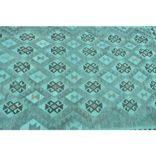 9'65x6'76 Sheep Wool Handwoven Natural Traditional Afghan kilim Area Rug