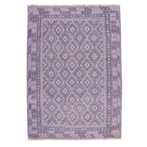 9'58x6'73 Sheep Wool Handwoven Natural Traditional Afghan kilim Area Rug