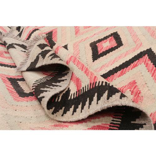 198x150 cm Handgemaakt Wol Kelim Kleed Oosters Tapijt