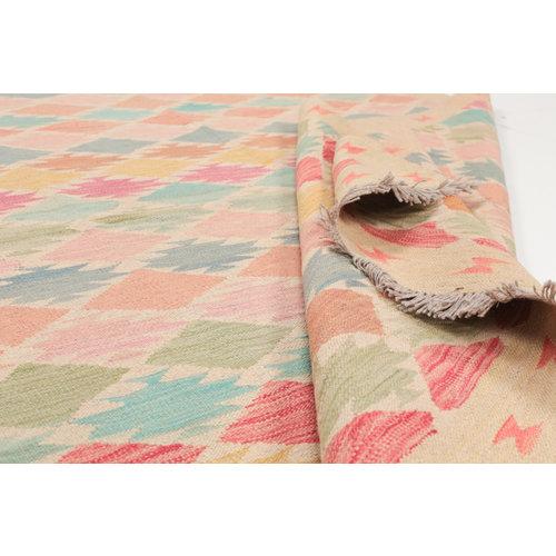6'7x4'7 Handmade Afghan Kilim Rug Wool Oriental Carpet