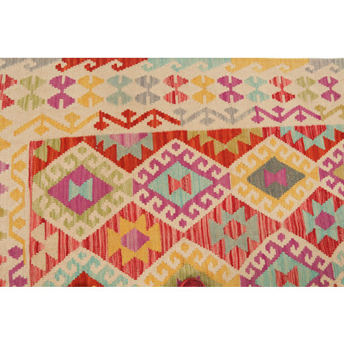kilim carpet 177x121cm  Handwoven Multicolor Traditional Afghan
