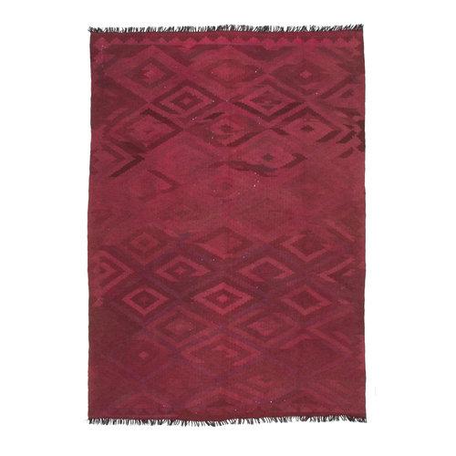 209x146 cm Handgemacht Wolle Kelim Orientteppich