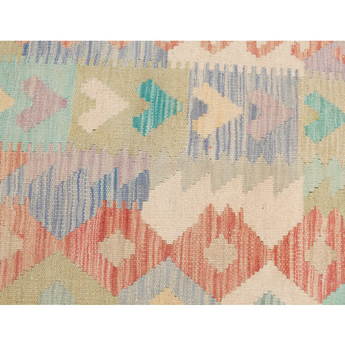 198x151 cm Handmade Afghan Kilim Rug Wool Carpet