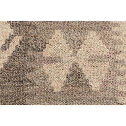 189 x 118 cm Handgemacht Braun Wolle Kelim Orientteppich