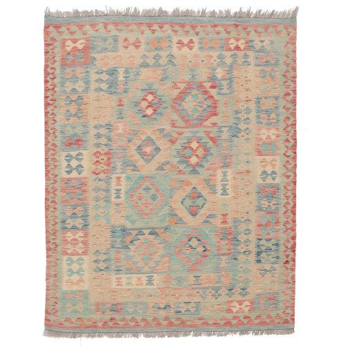 6'5x4'11 Handmade Afghan Kilim Rug Wool Oriental Carpet