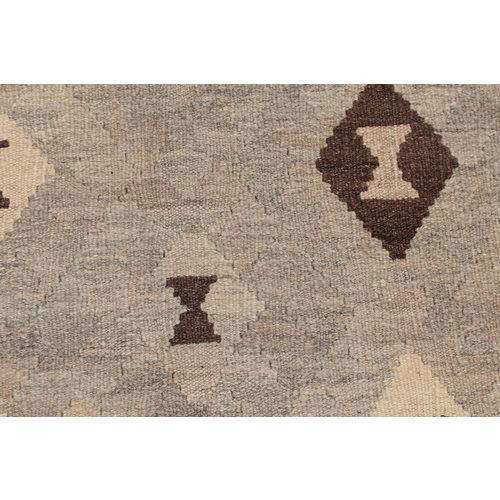6'5x4'11 Handmade Afghan Kilim Rug Brown Wool Carpet