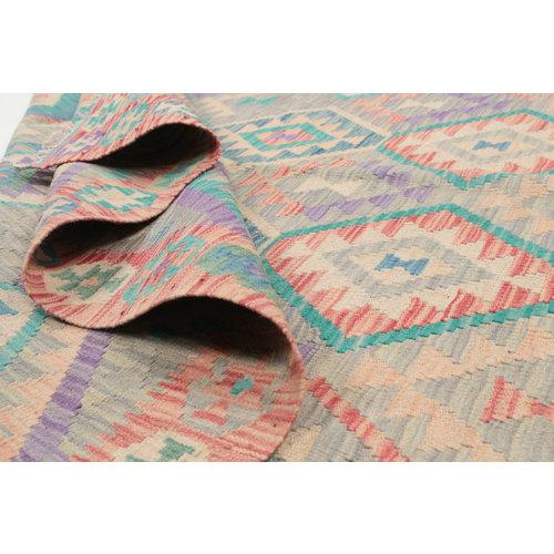 210x170  cm Handgemacht afghanisch Wolle Kelim Orientteppich