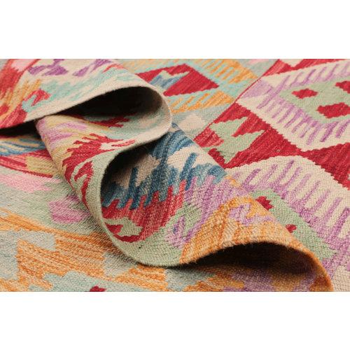 203x152 cm Handgemaakt Wol Kelim Kleed Oosters Tapijt