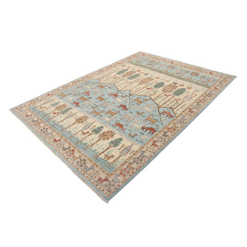 290x210 cm Hand knotted Traditional Ziegler Wool Carpet