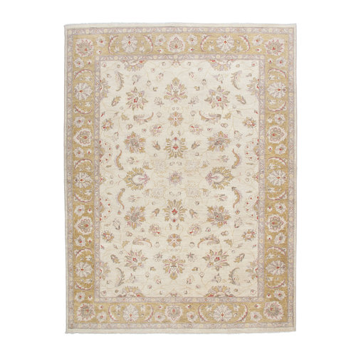 286x208 cm Hand knotted Traditional Ziegler Wool Carpet