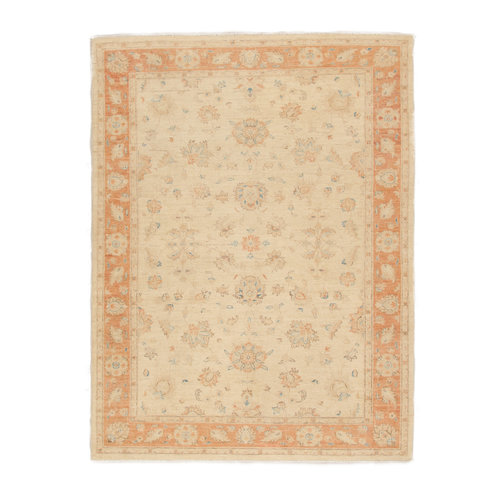 228x164 cm Hand knotted Traditional Ziegler Wool Carpet