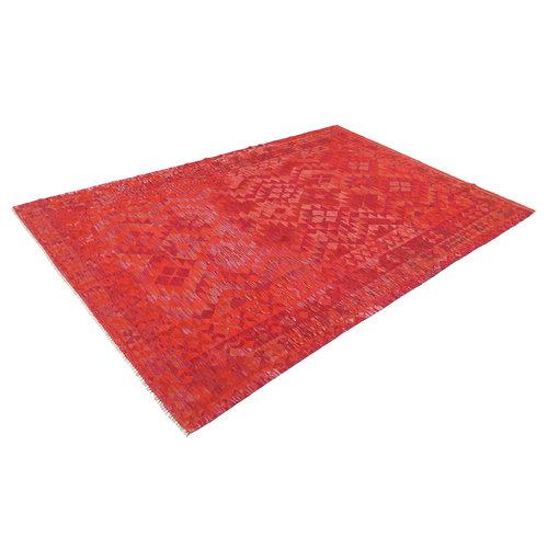 286x201 cm Handgemacht Wolle Kelim Teppich Orientteppich