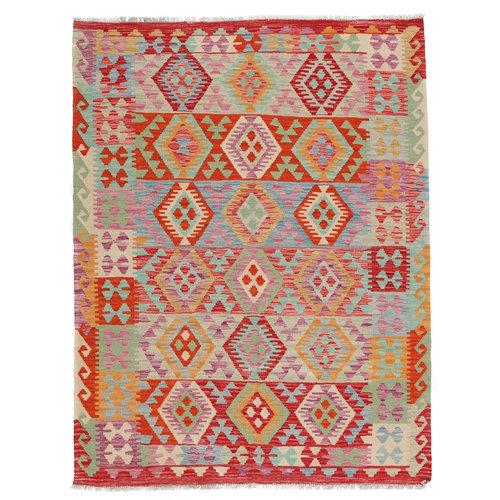 6'8x5'1 Handmade Afghan Kilim Rug Wool Oriental Carpet