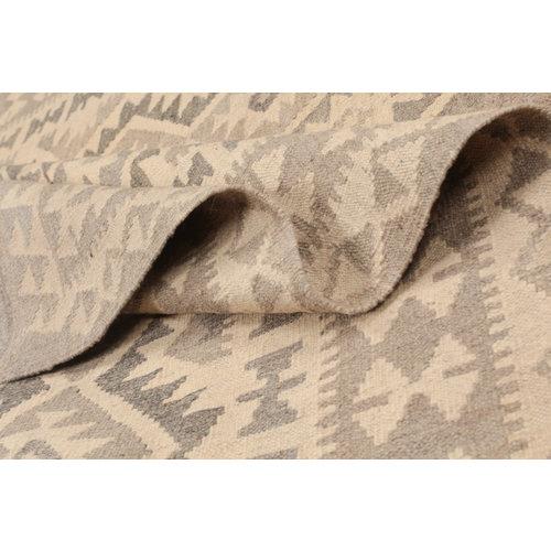 205x147 cm Handgemacht afghanisch Wolle Kelim Braun teppich