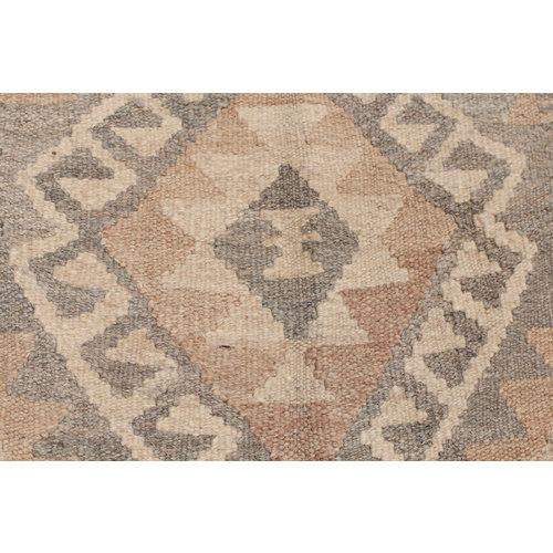 6'4x4' Handmade Afghan Kilim Rug Brown Wool Carpet