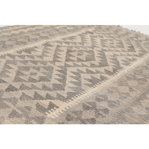145x100 cm Handgemacht Braun Wolle Kelim Orientteppich
