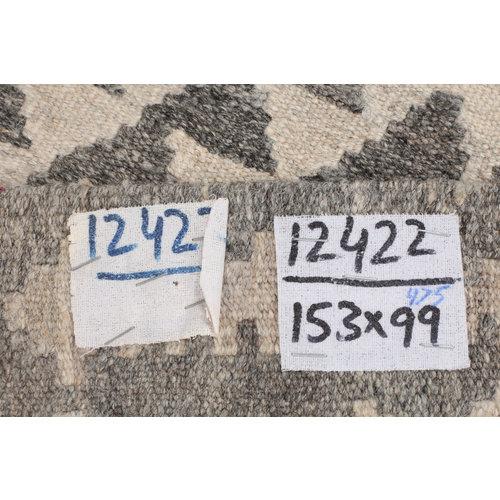 5'x3'2 cm Handmade Afghan Kilim Rug Brown Wool Carpet