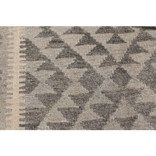 4'9x3'3 cm Handmade Afghan Kilim Rug Brown Wool Carpet
