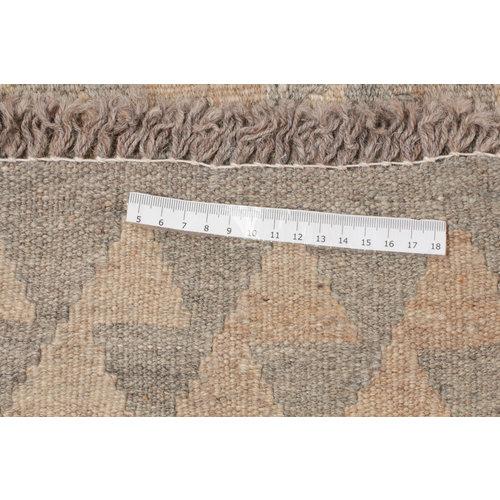 176x121 cm Handgemacht Braun Wolle Kelim Orientteppich