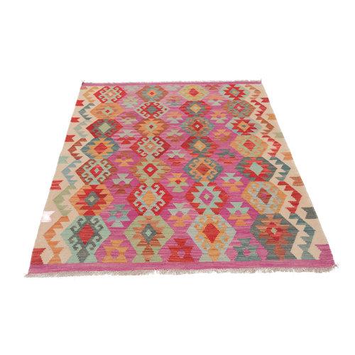 6'3x4'11 cm Handmade Afghan Kilim Rug Wool Carpet