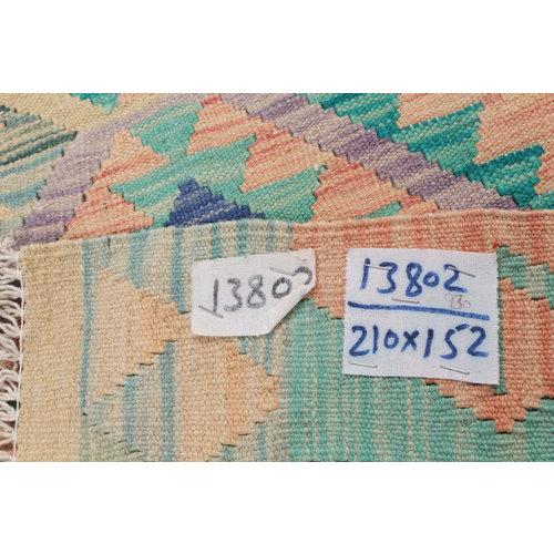 6'10x4'11 cm Handmade Afghan Kilim Rug Wool Carpet