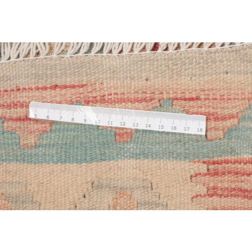 192x150 cm Handgeweven Kelim Tapijt Wol Vloerkleed