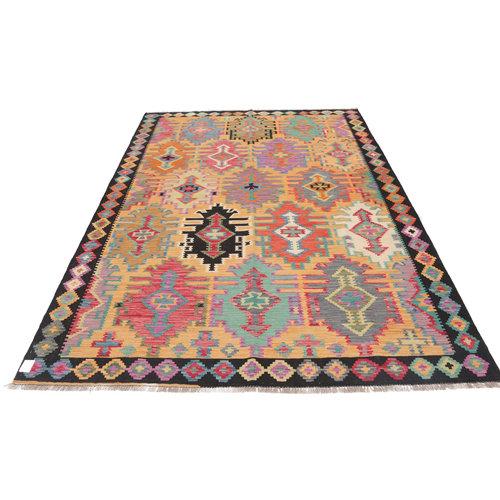 9'8x6'9 cm Handmade Afghan Kilim Rug Wool Carpet