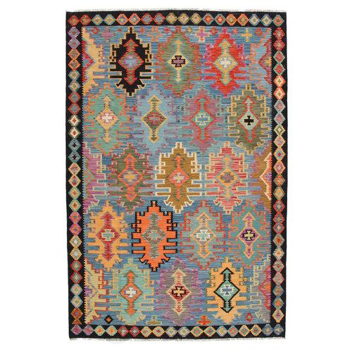 10x6'9 cm Handmade Afghan Kilim Rug Wool Carpet