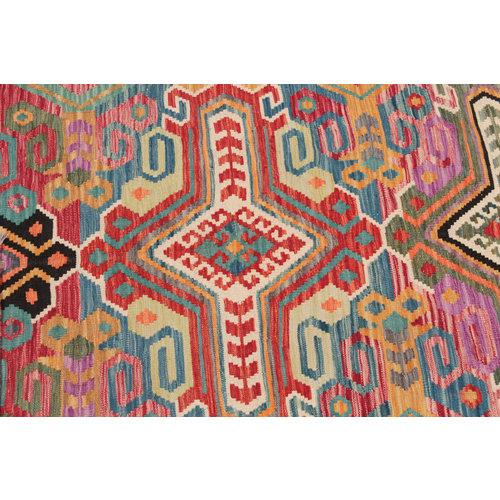 9'7x6'9 cm Handmade Afghan Kilim Rug Wool Carpet